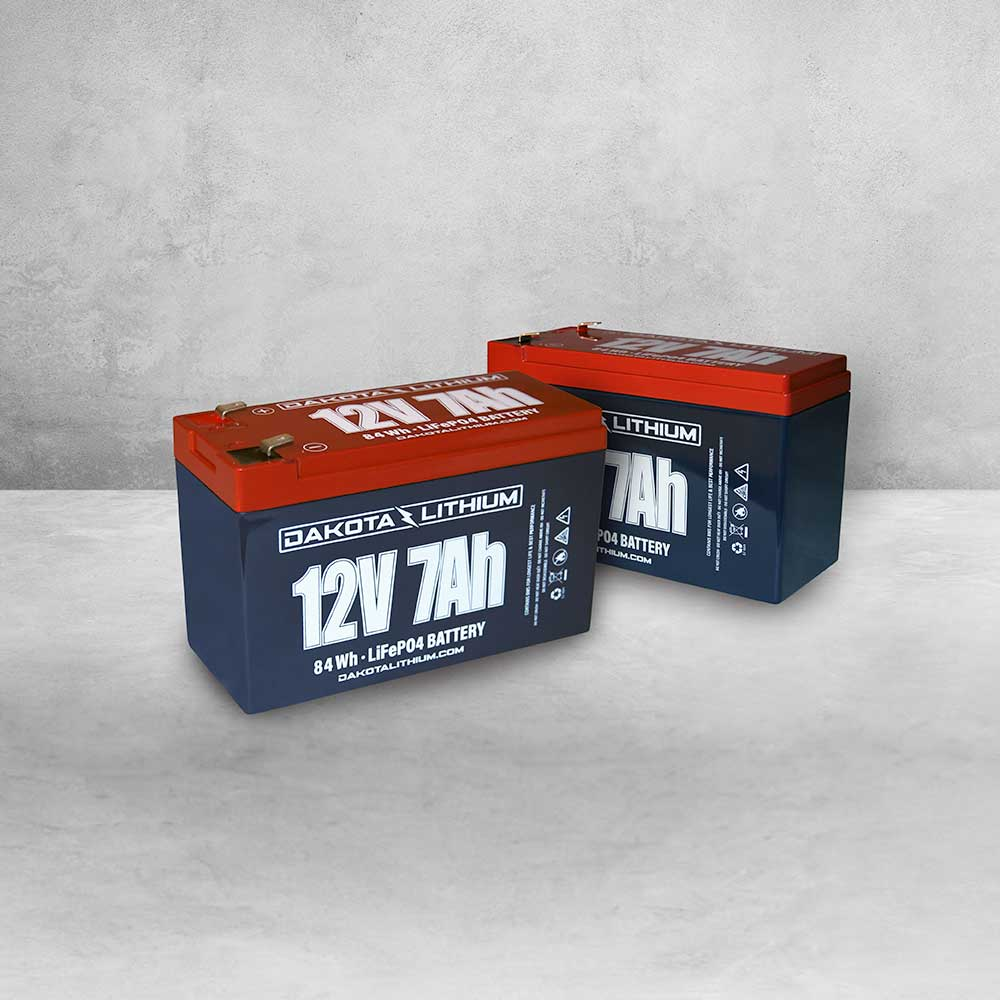 Dakota Lithium 12v 14Ah LiFePO4 Battery Twin Pack