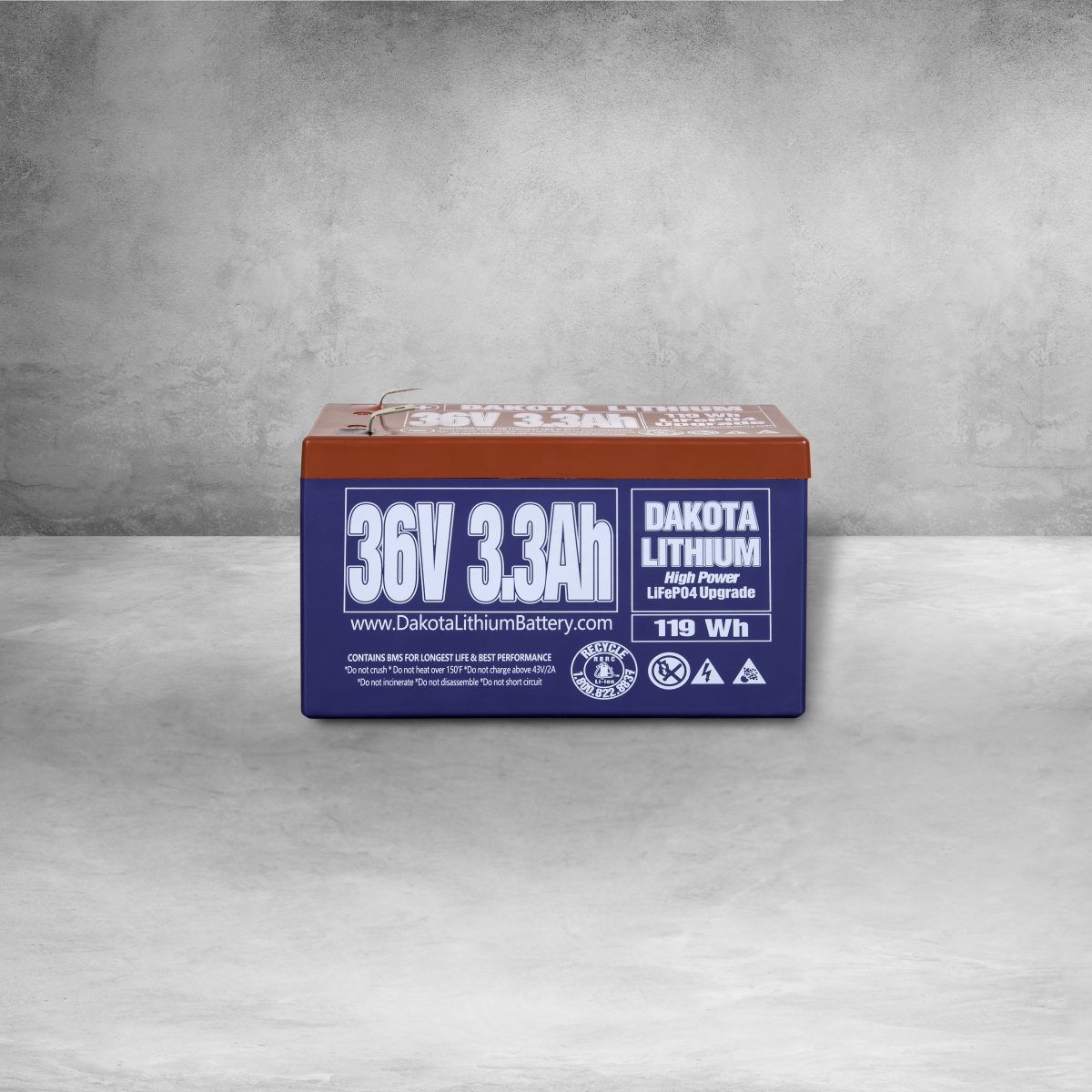 Dakota Lithium Iron Phosphate 36v 3 3Ah Battery