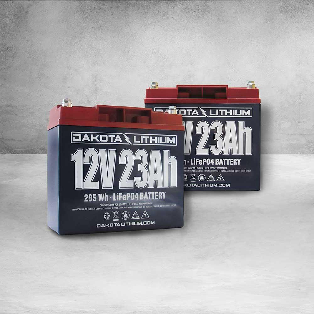 Dakota Lithium 12V 46Ah LiFePO4 Battery Twin Pack