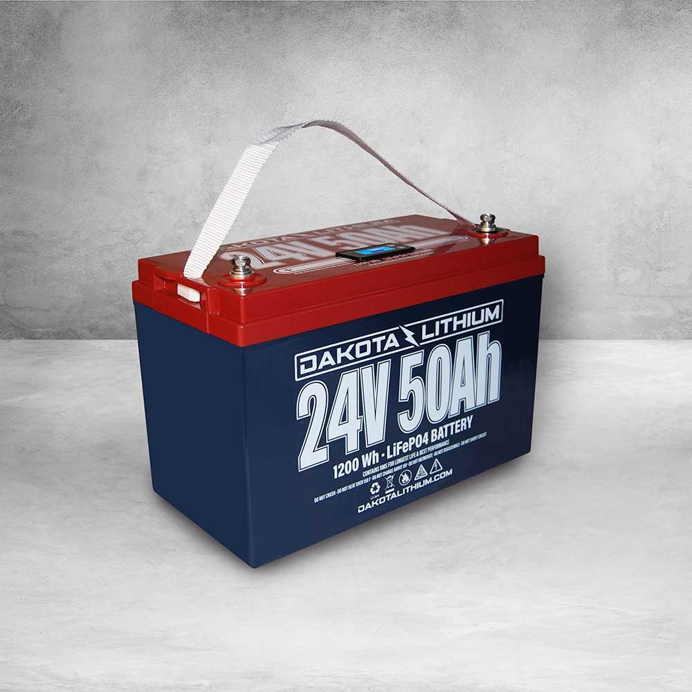Dakota Lithium 24v 50Ah Deep Cycle LiFePO4 Single Battery