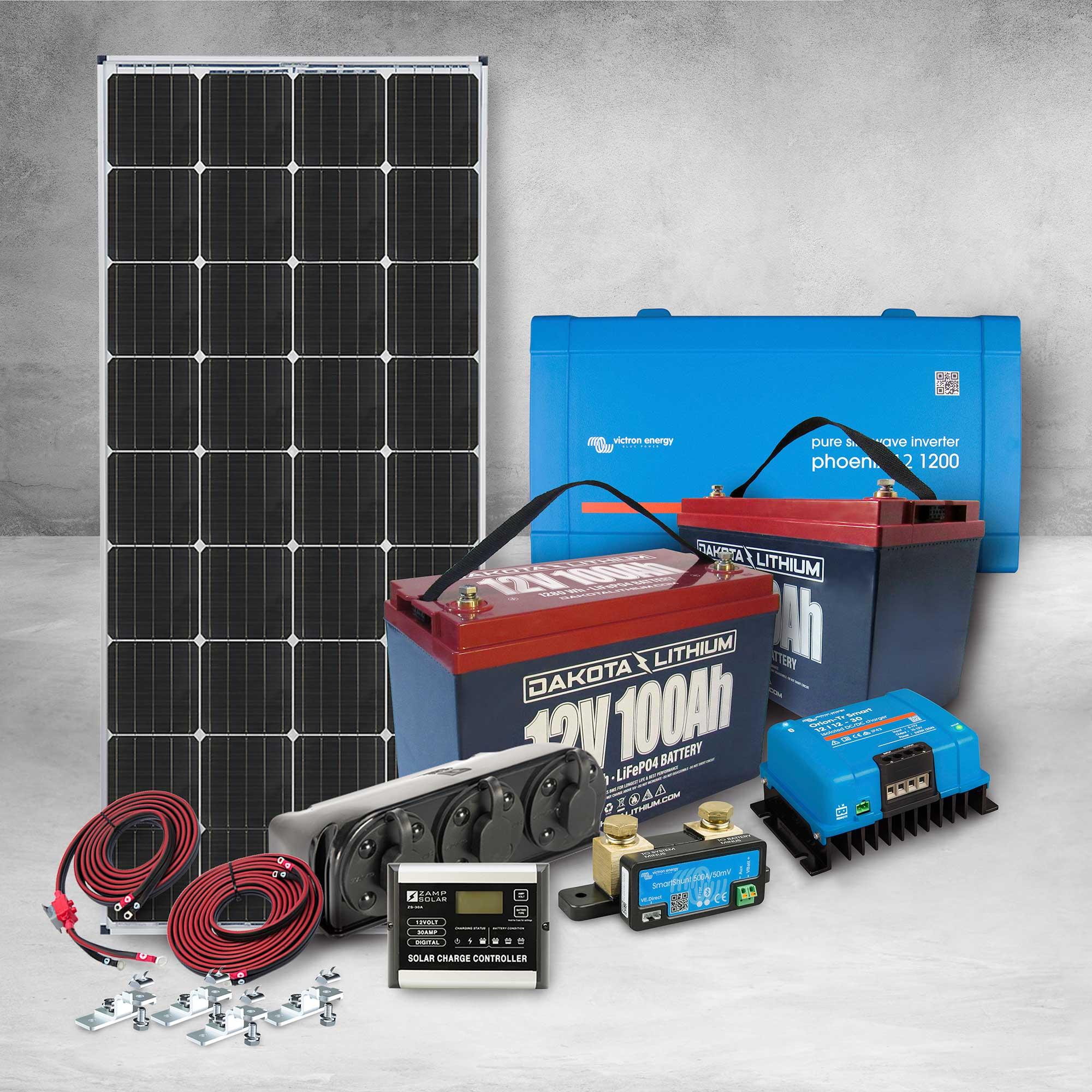 Dakota Lithium & Zamp Solar 12v 200Ah Off-Grid Power System
