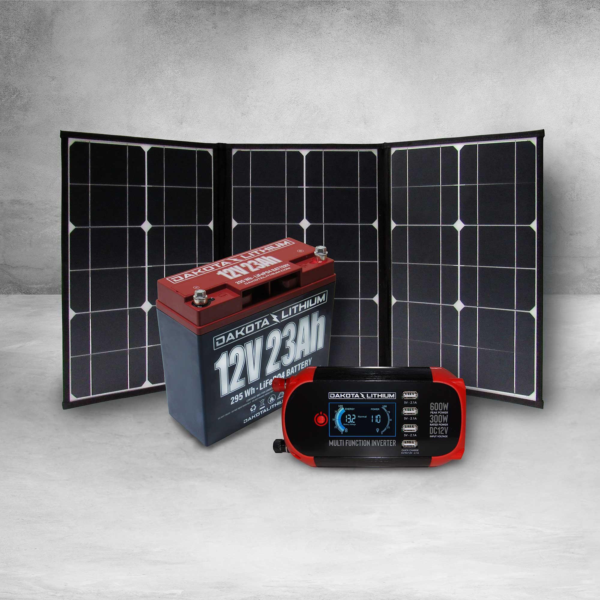 Dakota Lithium 12v 23Ah Off-Grid Power System