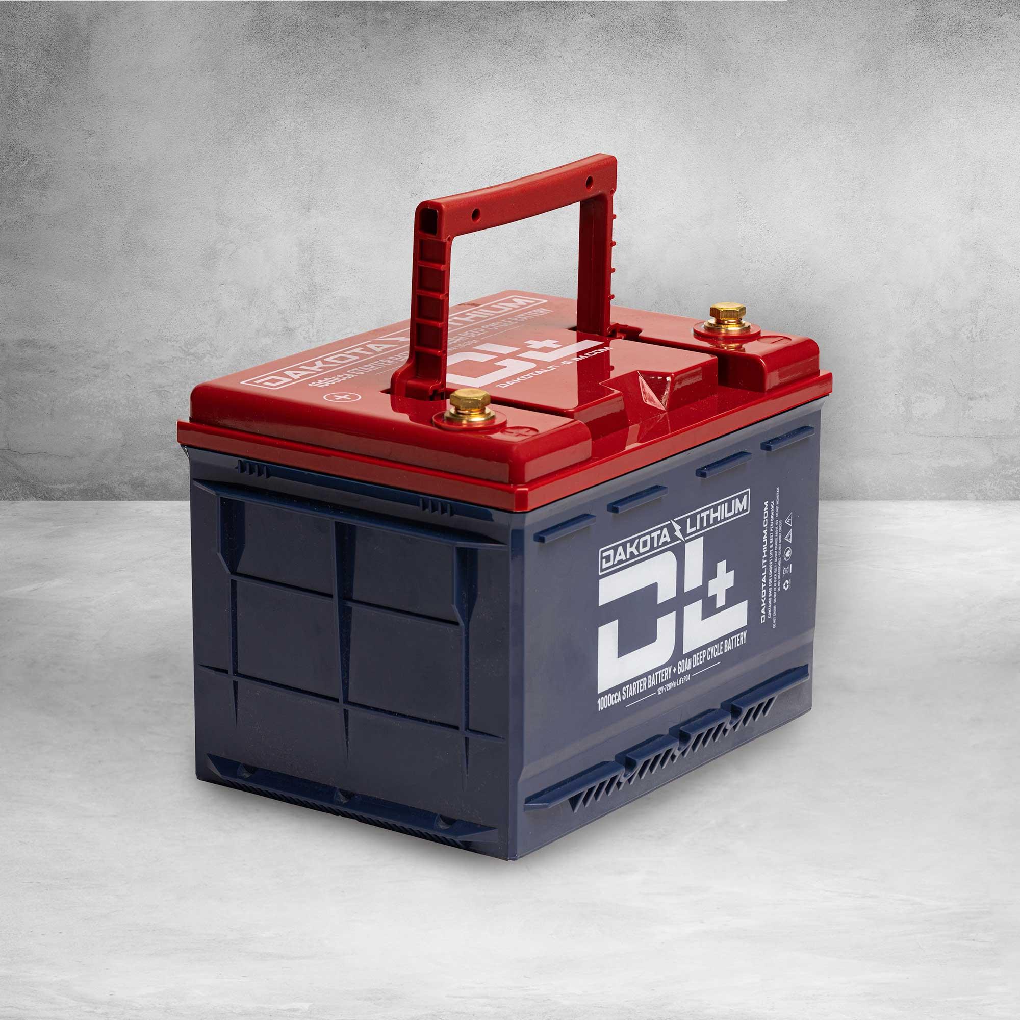 DL+ 12v 60Ah Dual Purpose 1000CCA Starter Battery Plus Deep Cycle Performance