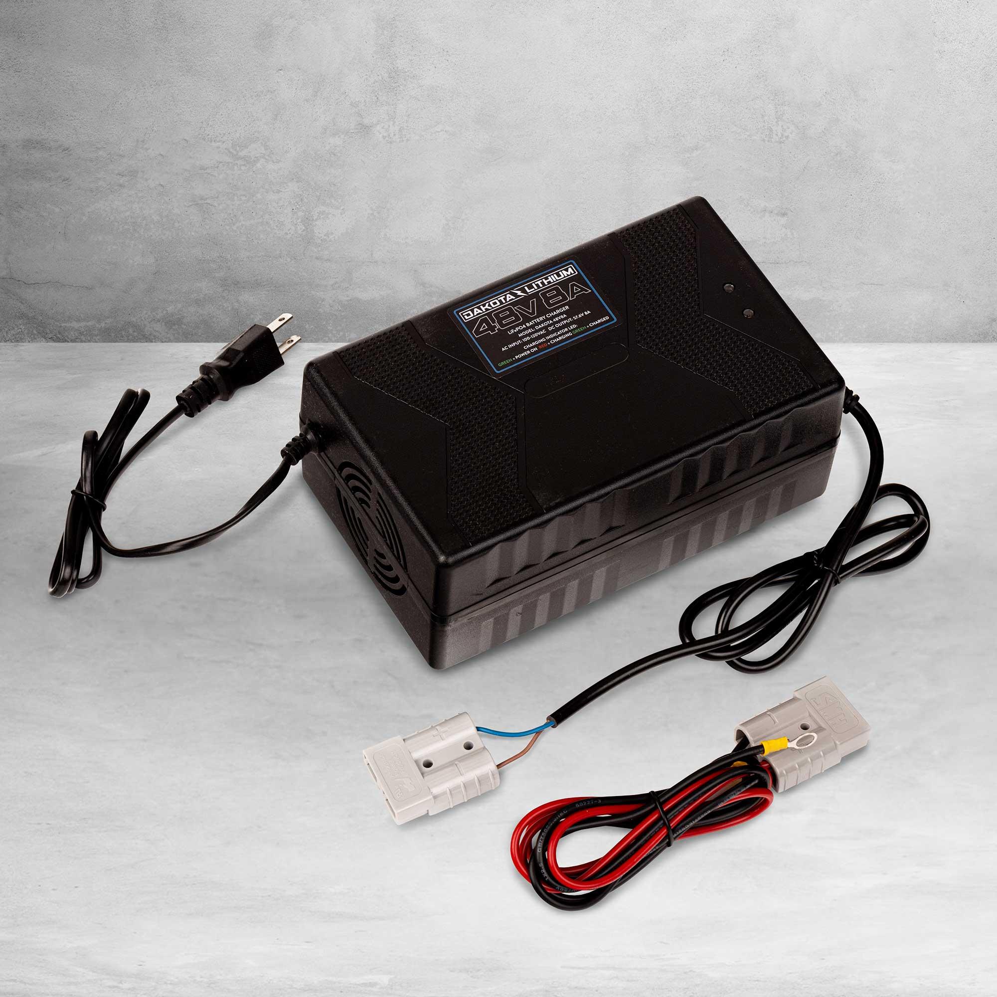 48v 8 Amp Dakota Lithium LiFePO4 Battery Charger
